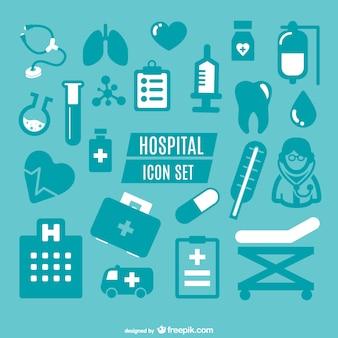 Iconos simples de hospital