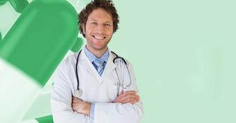 Medicamentos gesto morena profesión de pie