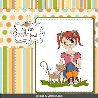 Mejor tarjeta de amigo en el estilo del libro