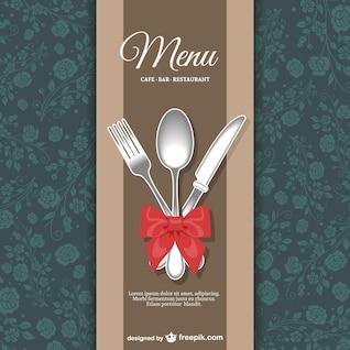 Menú de restaurante con diseño floral