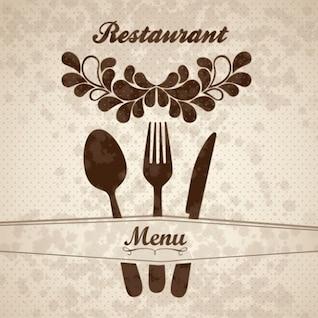 Menú del restaurante floral
