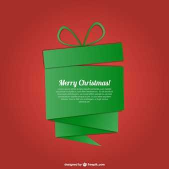 Plantilla de  Feliz Navidad con regalo