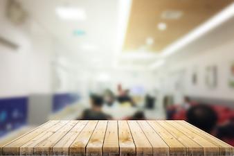 Mesa de madera con fondo