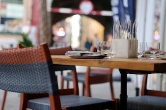 Mesa de restaurante preparado