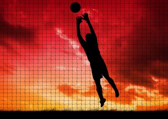 Meta dibujo hombre que muestra atleta