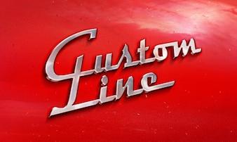 Metálica del coche maqueta emblema