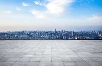 Metrópolis moderna horizonte, Chongqing, China, Chongqing panorama.