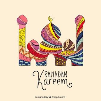 mezquita abstracta de Ramadán