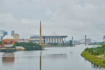 Mezquita de la arquitectura río religión musulmana