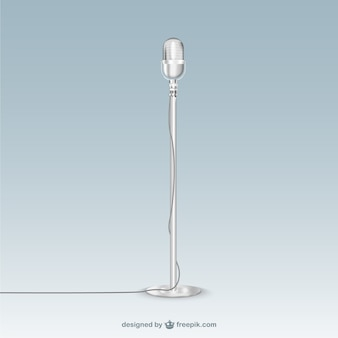 Micrófono retro metálico