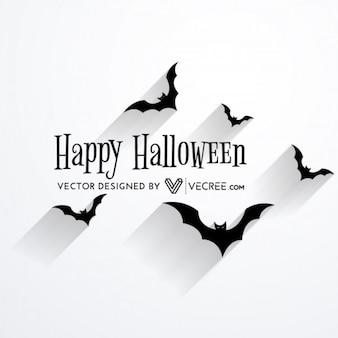 Miedo de murciélago volando diseño de halloween