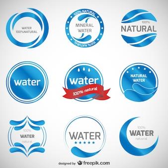 Colección de logotipos de agua mineral