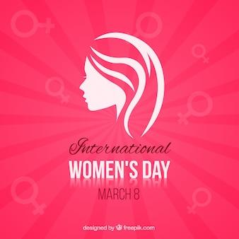 Tarjeta minimalista del día de la mujer