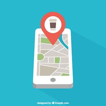 Teléfono móvil con mapa