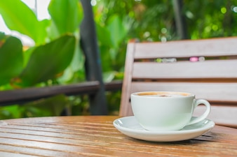 Mocca en la cafetería