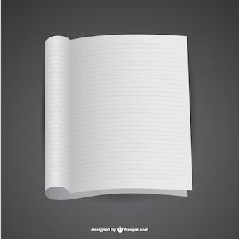 Plantilla de cuaderno en blanco