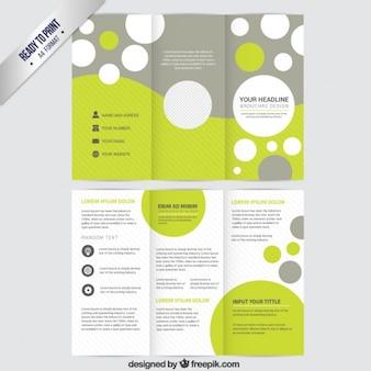 Modelo del folleto con círculos