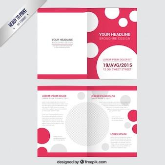 Modelo del folleto con los puntos