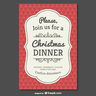 Modelo invitación para Navidad