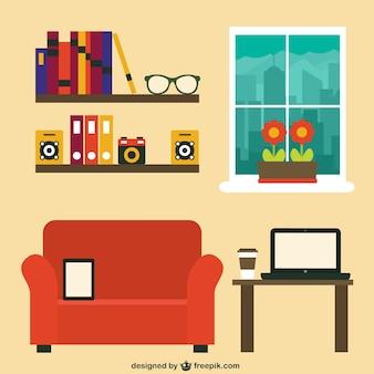 Oficina moderna en el hogar