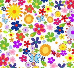 Moderna de flores de primavera de vectores de fondo