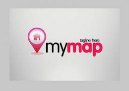 moderno mi mapa ilustrador vectorial