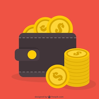 Monedas del dólar del vector