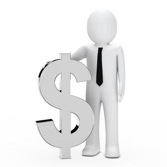 Monigote con el símbolo del dolar