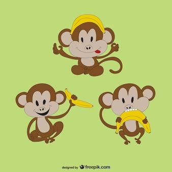 Mono con plátano