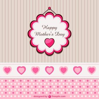 Vector día de la madre con corazón