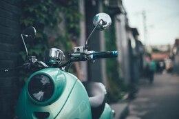 Motocicleta estacionada