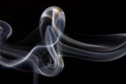 movimiento de humo curva de forma abstracta