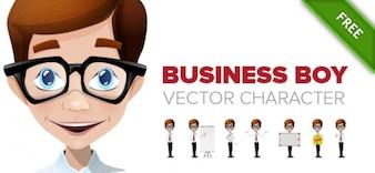 muchacho negocios vector de caracteres