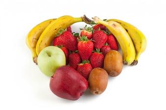 Muchas frutas juntas