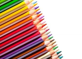 Muchos lápices con copyspase