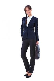 Mujer de negocios con un maletín