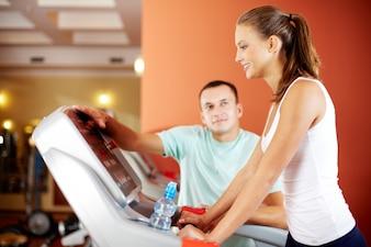 Mujer empezando a entrenar
