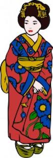 mujer en kimono