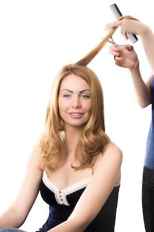 Mujer en la peluquería