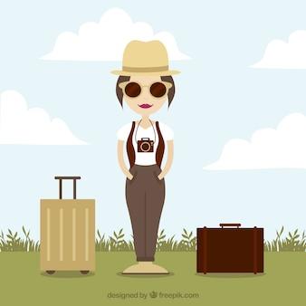 Mujer turística