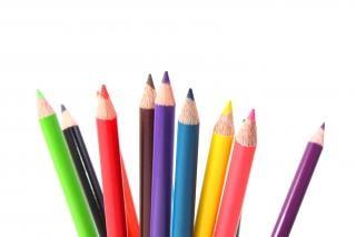 multicolor de lápices de colores de pintura