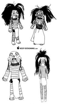 Muñecos figurilla del nativo americano