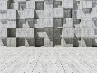 Muro con bloques cuadrados