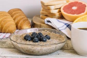 Mush y pastelería para el desayuno