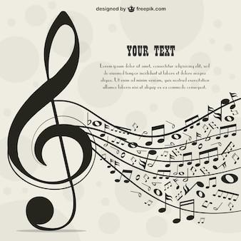 Plantilla para texto con temática musical