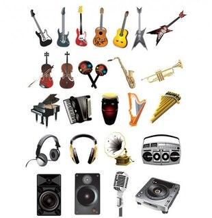 Música con estilo icono instrumentales vector