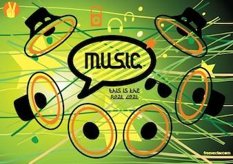 música iconos de altavoz vector