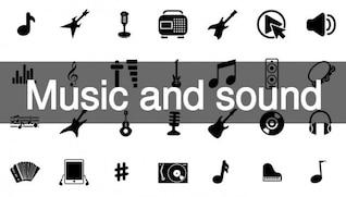 Música y sonido iconos