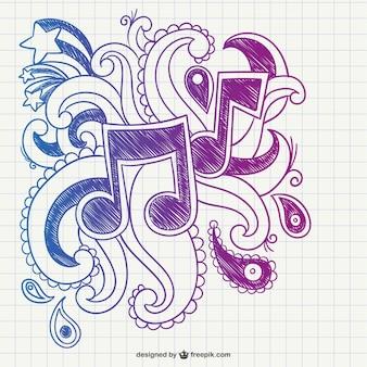 Garabato de notas musicales