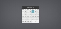 Muy pequeño calendario (PSD)